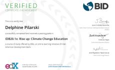 Certificat Delphine Climate Change